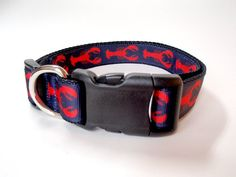 Pattern Dog Collar with Name Lobster Dog by EastTexasEmbroidery