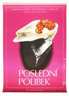 Original movie poster The Last Kiss designed by Czech poster designer Eva Heřmanská, 1978, Price: £77.00 #MoviePoster #70sMoviePoster #GraphicDesign #VintagePoster #EvaHermanska