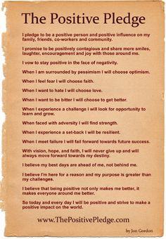 The Positive Pledge by Jon Gordon