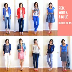 Red, White, & Blue outfit ideas