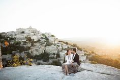 Edwin and Claire's Golden Hour Engagement Shoot in Provence, France {Facebook and Instagram: The Wedding Scoop}