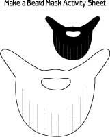 Beard Mask Cut Outs make a Santa beard pirate beard or sport team Rally Beard Halloween Arts And Crafts, Christmas Paper Crafts, Crafts To Make, Printable Crafts, Templates Printable Free, Printables, Fake Beards, Sewing, Beards