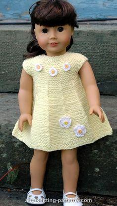 American Girl Doll Garter Stitch Summer Dress