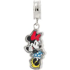 Connections from Hallmark Stainless Steel Disney Minnie Mouse Dangle Charm (owns)