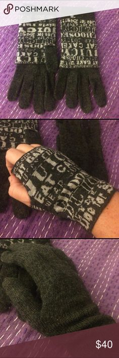 Juicy Couture Gloves Grey, wool/blend, new without tags. Juicy Couture Accessories Gloves & Mittens