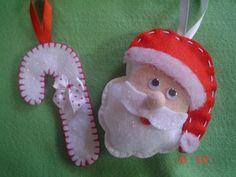Tudo em Feltro: (F0101) Decoração Natal Christmas Ornaments, Holiday Decor, Home Decor, Embellishments, Feltro, Everything, Christmas 2016, Xmas Ornaments, Homemade Home Decor