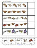 Insects numbers, counting and logic activities and prinables for Preschool, PreK and Kindergarten