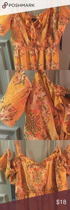 """As U Wish floral cold shoulder dress Brand new and never worn.  33"""" from top.  100% polyester. As U Wish Dresses Midi"""