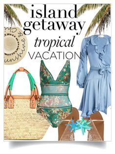"""""""Untitled #269"""" by todosobrefashion ❤ liked on Polyvore featuring Betsey Johnson, Zimmermann, Balenciaga and islandgetaway"""