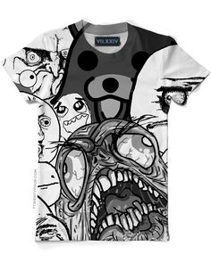 Meme T-shirt - black and white all over print sublimation shirt.