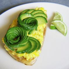 Avocado Roses & Scrambled Eggs Sourdough Toast [USA]