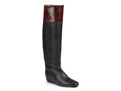 Lanvin hidden heel knee high boots in black Leather - Italian Boutique €693