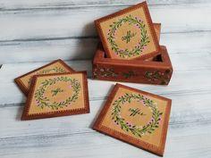 Barware, Coasters, Decorative Boxes, Coffee, Home Decor, Kaffee, Decoration Home, Room Decor, Coaster