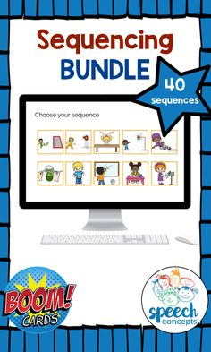 Boom Cards - Sequencing - 4 Part sequences Story Retell, Story Sequencing, Speech Therapy Activities, Language Activities, Second Language, Speech And Language, Ell Students, Picture Story, Learning English