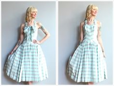 A personal favorite from my Etsy shop https://www.etsy.com/listing/530292150/1950s-dress-clifton-wilhite-chevron