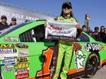 """Danica Patrick displays the flag after winning the pole during qualifying for the NASCAR Daytona 500 Sprint Cup Series auto race at Daytona International Speedway, Sunday, Feb. 17, 2013, in Daytona Beach... """"""""I was brought up to be the fastest driver, not the fastest girl..."""""""
