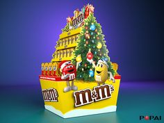 Popai 2018 stends for M&Ms on Behance Display, Christmas, Sketch, Behance, Design, Paper Board, Floor Space, Xmas, Sketch Drawing