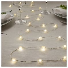 SNÖYRA LED string light with 40 lights - indoor, battery operated silver color - IKEA Point Light, Light Up, Ikea Canada, Deco Led, Light Chain, Unique Lighting, Decorative Lighting, Patio Lighting, Interiors