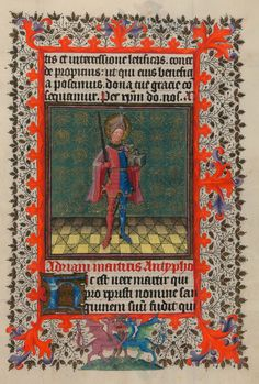 St. Adrian | Hours of Catherine of Cleves | Illuminated Manuscript | ca. 1440 | The Morgan Library & Museum