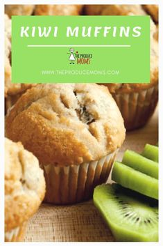 Make these kiwi muffins for breakfast! These muffins are delicious & have minimal added sugar & oil. Plus with the sweetness & superfood power of kiwi, you can enjoy this muffin without the guilt! Kiwi Fruit Recipes, Juicer Recipes, Blender Recipes, Salad Recipes, Pasta Recipes, Chicken Recipes, Make Ahead Breakfast, Sweet Breakfast, Desert Recipes