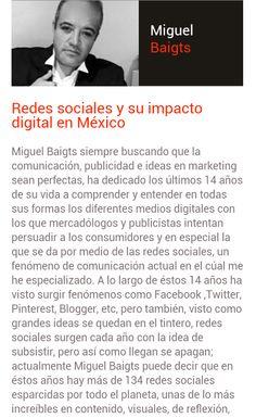 Ponente 2014 reconocido por su estudio de Redes Sociales. No te lo pierdas este 1ro de Marzo con su charla para nosotros en TEDx Guadalajara