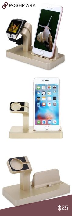Apple Watch/iPhone Charging Dock Brand new Apple Watch Stand,  [2 in 1 Charging Dock] iPhone Docking Station Multifunctional Dock Cradle for Apple Watch and iPhone Accessories Watches