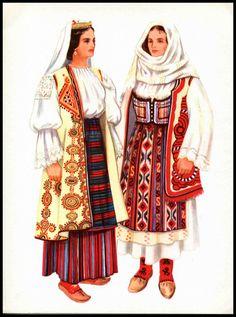 Serbian national costumes from Požarevac, Resava