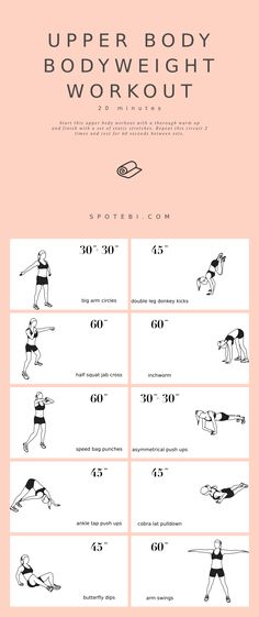 Upper Body Home Workout, Bodyweight Upper Body Workout, Upper Body Strength Workout, Upper Body Workout For Women, Fitness Workout For Women, Muscular Strength Exercises, Living Room Workout, Best Workout Routine, At Home Workouts