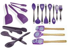 73 Best Purple Silicone Kitchen Utensils images | Silicone ...