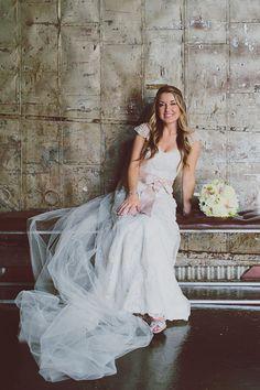 Wedding Dress: Casablanca Bridal (sleeves added by bride)