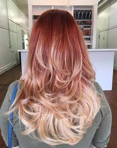 Copper to Blonde Ombre Hair for Fall