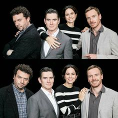 Michael, Katherine Waterston, Billy Crudup and Danny McBride at the AOL Build panel on May 2017 in New York. Danny Mcbride, Billy Crudup, Michael Fassbender, Fantastic Beasts, Singers, It Cast, Fandom, New York, Actresses