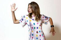 The Damien Hirst Dot Dress Embodies the Painter's Inspiration #dress #fashion trendhunter.com