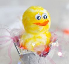 Click Pic for 50 Easter Crafts for Kids - Cotton Ball Chicks - Easter Craft Ideas for Preschoolers