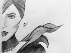 Angelina Maleficent drawing