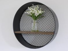 Round Industrial Shelf , - Olive and Sage, Olive and Sage - 1