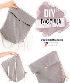 DIY Sewing & Paso a paso para hacer una mochila de tela muy fácil. DIY backpack& DIY Sewing & Step by step to make a fabric backpack very easy. DIY backpack pattern free The post DIY Sewing Diy Bags Patterns, Sewing Patterns, Mochila Tutorial, Diy Rucksack, Easy Crochet Hat, Costura Diy, Backpack Outfit, Diy Wallet, Diy Bags Purses