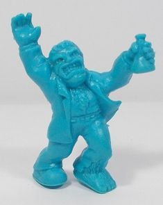 Monster In My Pocket - Series 1 - 39 Mad Scientist - Neon Blue - Cyan - Premium Monster S, My Pocket, Classic Toys, Mythical Creatures, Lion Sculpture, Neon, Statue, Vintage, Ebay