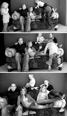Love this idea. Shows the real chaos behind a perfect family photo. Very original.