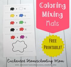 Practice your color skills with fun hands-on color mixing exercises with these FREE Color Mixing Mats.