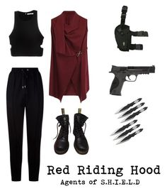 """""""Untitled #164"""" by maddy-adams on Polyvore featuring Elvi, Givenchy, T By Alexander Wang, Dr. Martens, Holster and Smith & Wesson"""