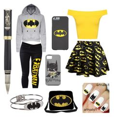 """Batman"" by denise-ocean ❤ liked on Polyvore featuring WearAll and Montegrappa"