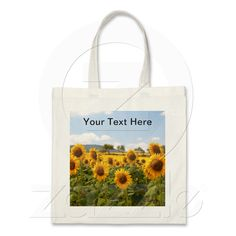 Bag with sunflowers from Zazzle.com