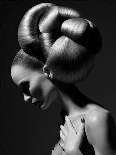 "49percent: ""Couture Hair""  Model: Georgina Greenville  Photographer: Sølve Sundsbø  Magazine: VOGUE Nippon Beauty January 2008"