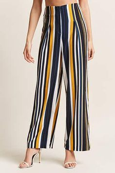 Forever 21 is the authority on fashion & the go-to retailer for the latest trends, styles & the hottest deals. Shop dresses, tops, tees, leggings & more! Shop Forever, Forever 21, Stripped Pants, Pantalon Large, Long Pants, Chic Outfits, No Frills, Latest Trends, Trousers