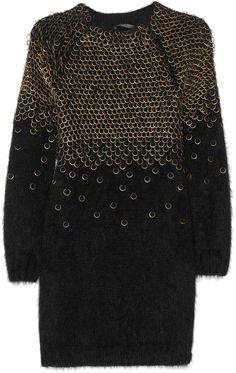 Embellished Angora-blend Sweater Dress by Alexander McQueen