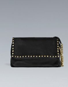 ZARA STUDDED SUEDE CITYBAG $129.00 - Get that Valentino stud look with this bag