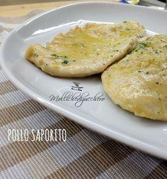 Pollo saporito ricetta velocissima - Mollichedizucchero Turkey Recipes, Chicken Recipes, Food Dishes, Side Dishes, Fett, Italian Recipes, Baked Potato, Buffet, Food And Drink