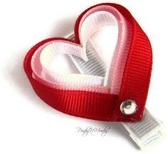 Ribbon Heart Hair Clip