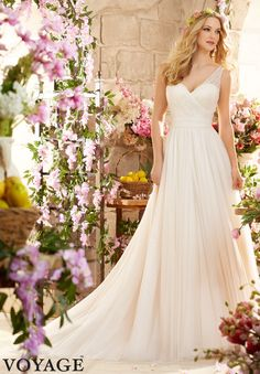 #Wedding #Gowns / #Dresses #Style 6805: Soft Net http://www.morilee.com/bridals/voyage/6805